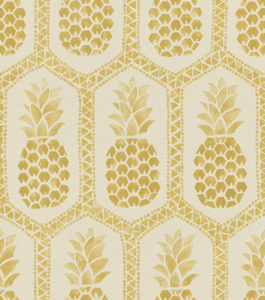 Wallpaper Barbara Becker Bb Pineapple Cream Gold