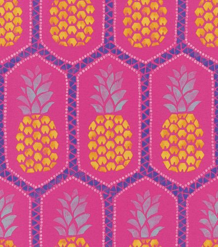 Wallpaper Barbara Becker bb pineapple pink yellow 862126 online kaufen