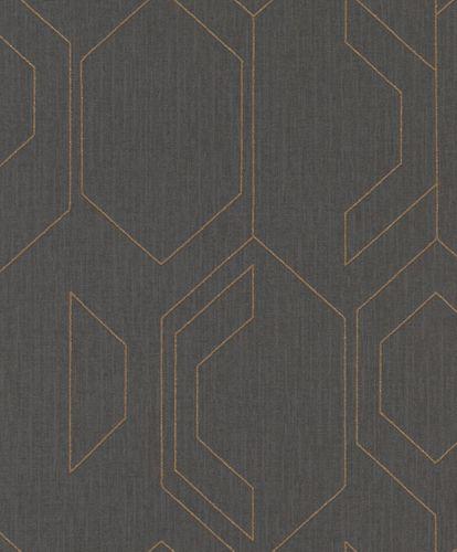Wallpaper Rasch Cato graphic anthracite glitter 800807 online kaufen