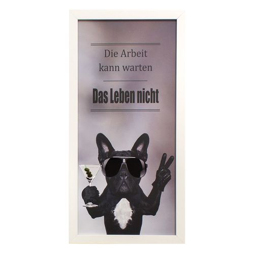 Framed Picture Art Print french bulldog dog gloss 23x49 cm online kaufen