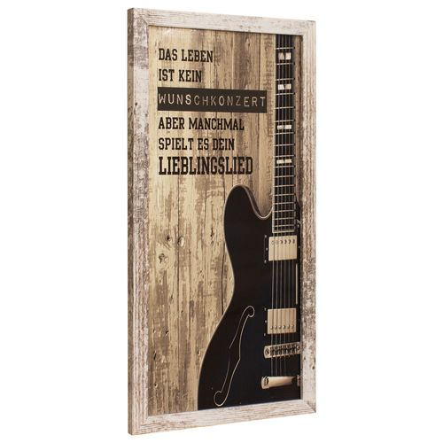 Framed Picture Mural guitar vintage wood design 23x49 cm online kaufen