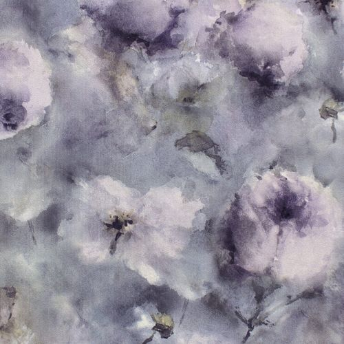 Wallpaper Rasch aquarell flower blue grey purple 467307 online kaufen