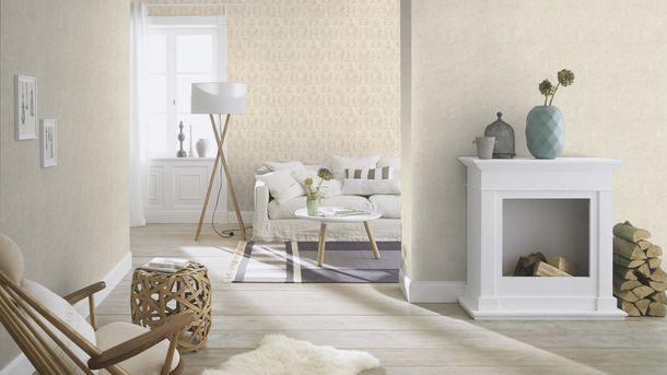 Wallpaper Rasch ornament white silver gloss 467406 online kaufen