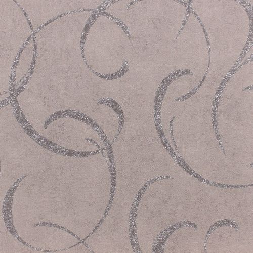 Wallpaper Rasch tendril vintage grey gloss 467642