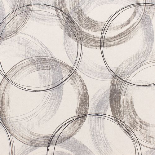 Wallpaper Rasch circle vintage white gloss 467758