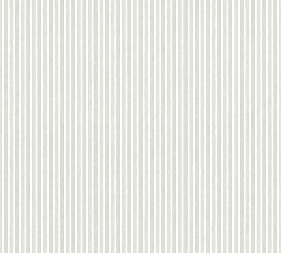 Kids Wallpaper stripes striped white silver gloss 35565-2 online kaufen