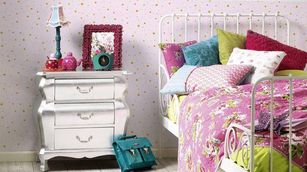 Kids Wallpaper dots dotted rose gold gloss 35839-1 online kaufen