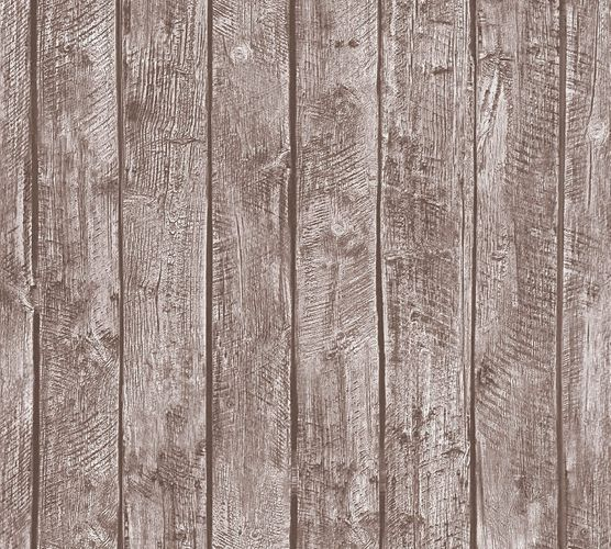 Kids Wallpaper wooden design boards brown 35841-1