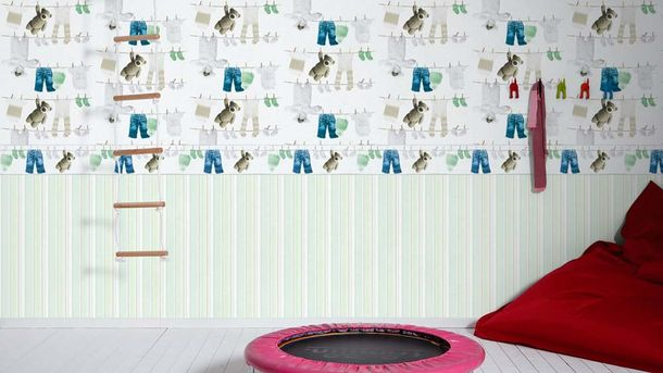 Kids Wallpaper teddy clothing white beige 35844-2 online kaufen