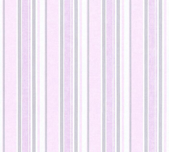 Kids Wallpaper stripes striped rose silver gloss 35849-4 online kaufen