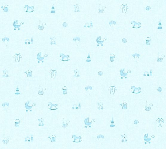 Kids Wallpaper toys kids childs light blue 35854-2 online kaufen