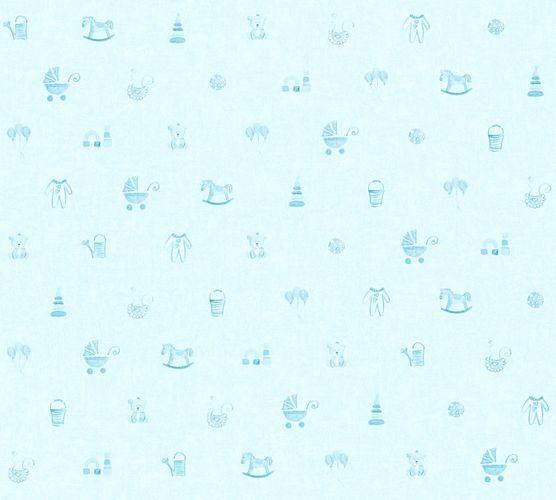 Kids Wallpaper toys kids childs light blue 35854-2
