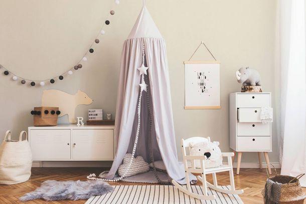Kids Wallpaper Plain Textile Look cream 35566-9 online kaufen