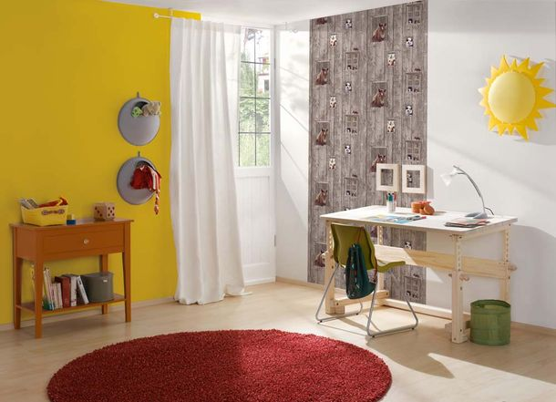 Kids Wallpaper plain design yellow 35834-7 online kaufen