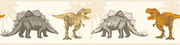 Kinder Bordüre Dinos Dinosaurier creme taupe 35836-2 online kaufen
