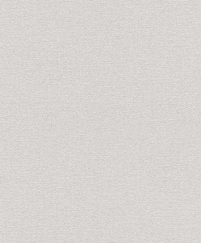 Non-woven Wallpaper Rasch plain texture white 804317