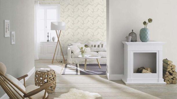 Non-woven Wallpaper Rasch plain texture grey 804331 online kaufen