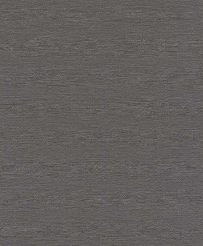 Non-woven Wallpaper Rasch plain texture grey 804355