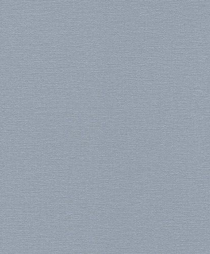 Vliestapete Rasch Uni Struktur blaugrau 804393