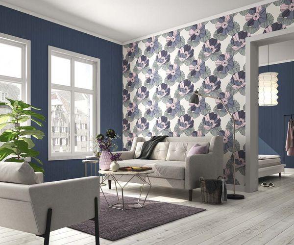 Non-woven Wallpaper Rasch plain texture blue 804508 online kaufen
