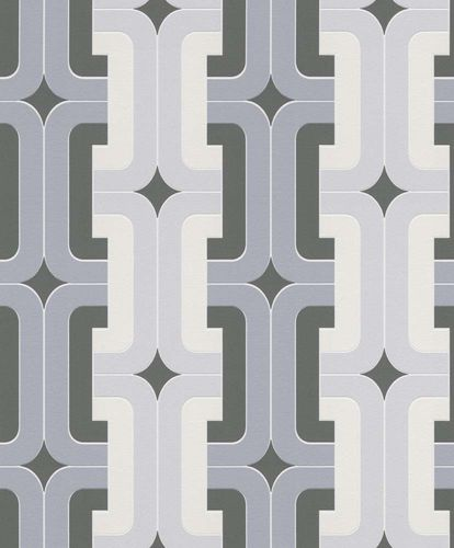 Non-woven Wallpaper Rasch retro square grey 804805 online kaufen