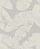 Non-woven Wallpaper Rasch tropical leaf white grey 805215 001