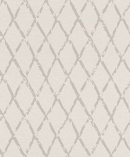Non-woven Wallpaper Rasch vintage diamond grey beige 805413 online kaufen