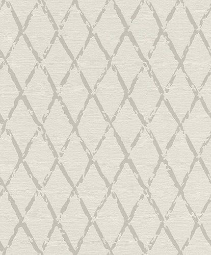 Vliestapete Rasch Raute Vintage weißgrau beigegrau 805413 online kaufen