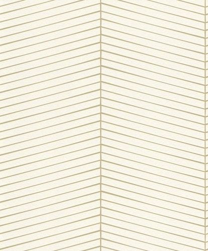 Non-woven Wallpaper Rasch graphic white gold gloss 941401