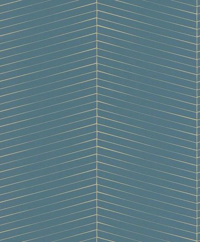 Non-woven Wallpaper Rasch graphic green gold gloss 941418 online kaufen