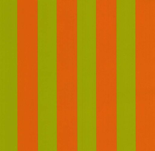 Kids Wallpaper Die Maus stripes orange green 05215-30 online kaufen