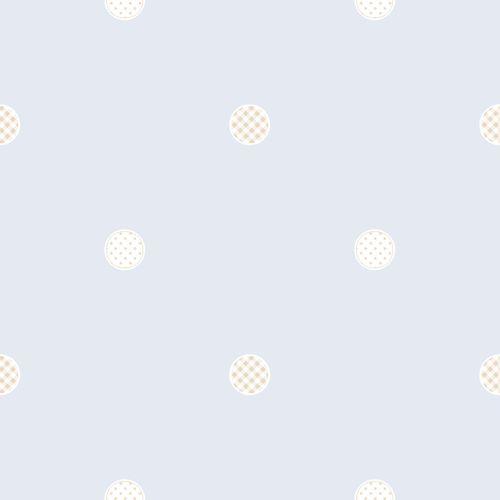 Kids Wallpaper circle stars light blue Rasch Textil 313246 online kaufen