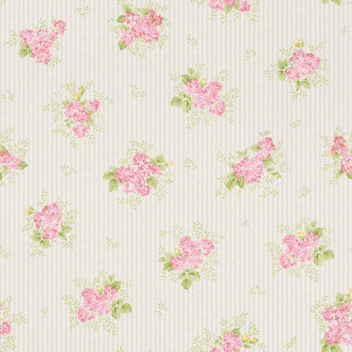 Wallpaper Rasch Textil stripes flower rose silver gloss 289182 online kaufen