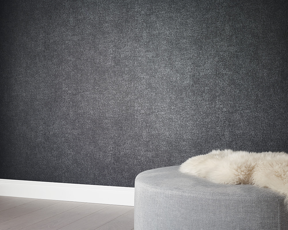 kretschmer deluxe wallpaper plain textured taupe grey 41000 00. Black Bedroom Furniture Sets. Home Design Ideas