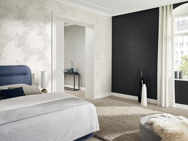 Kretschmer Deluxe Wallpaper plain textured black 41000-60 online kaufen