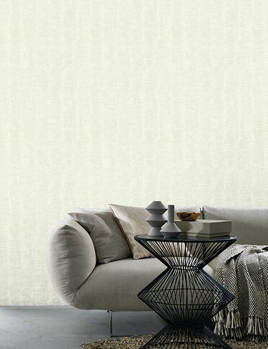 Kretschmer Deluxe Wallpaper striped white metallic 41001-10 online kaufen