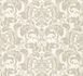 Kretschmer Deluxe Wallpaper damask glass beads white silver 41005-10 001