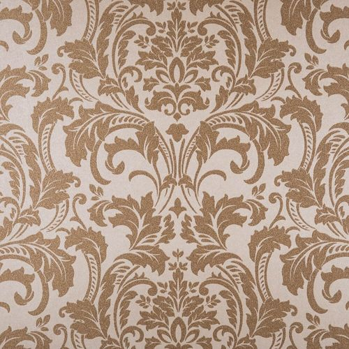 Kretschmer Deluxe Wallpaper damask glass beads gold 41005-40 online kaufen