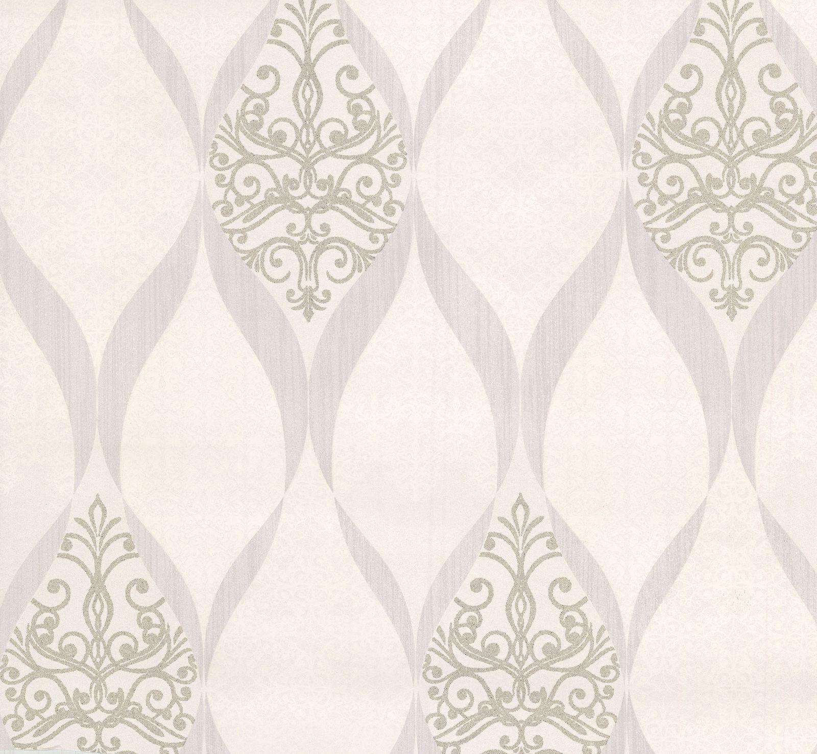 kretschmer deluxe tapete orient glasperlen wei silber 41006 10. Black Bedroom Furniture Sets. Home Design Ideas