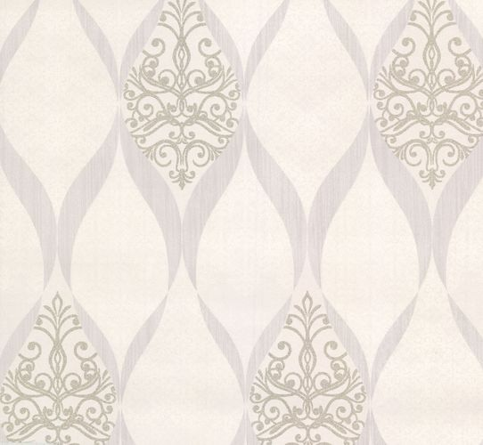 Kretschmer Deluxe Wallpaper orient glass beads white silver 41006-10