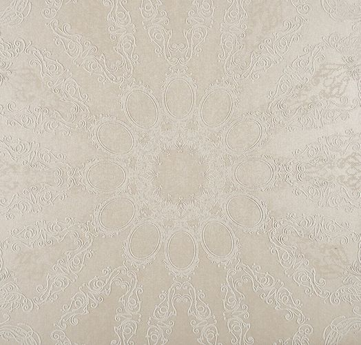 Kretschmer Deluxe Wallpaper mandala cream white glitter 41007-10