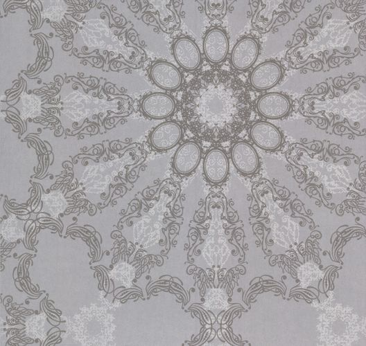 Kretschmer Deluxe Wallpaper mandala silver grey glitter 41007-20 online kaufen