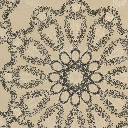 Kretschmer Deluxe Wallpaper mandala gold black glitter 41007-40