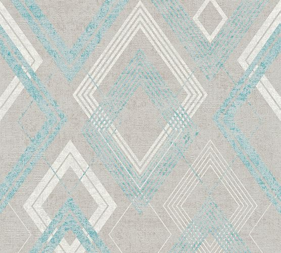 Wallpaper squares grey turquoise livingwalls 36000-2 online kaufen