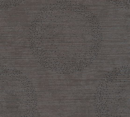 Wallpaper circle mottled dark brown silver livingwalls 36005-2