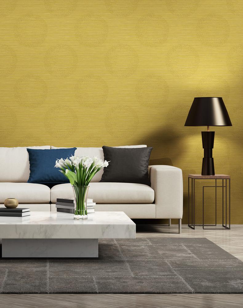 vliestapete kreise meliert gelb grau livingwalls 36005 4. Black Bedroom Furniture Sets. Home Design Ideas