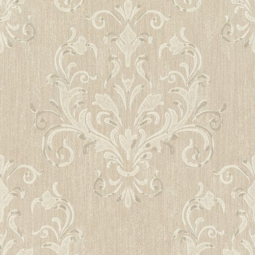 Wallpaper baroque beige cream metallic P+S 02522-40
