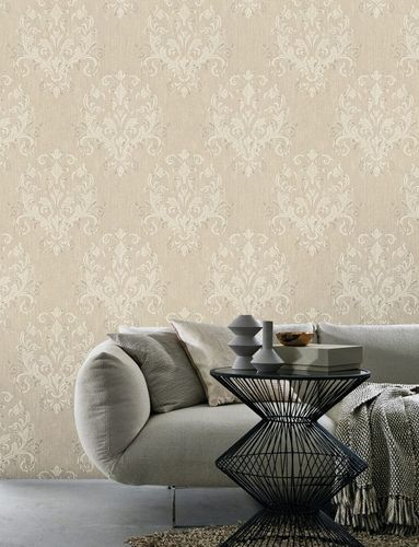 Wallpaper baroque beige cream metallic P+S 02522-40 online kaufen