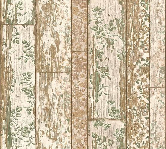 Wallpaper wooden vintage beige brown green 36119-2 online kaufen