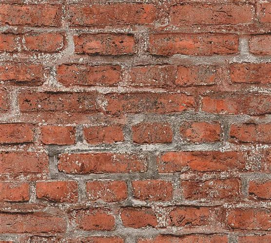 Wallpaper Neue Bude 2.0 stone bricks wall red brown grey 36139-2 online kaufen